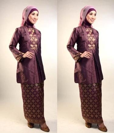 bentuk blus kebaya muslim